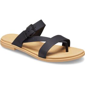 Crocs Tulum Toe Post Sandalias Mujer, negro/beige